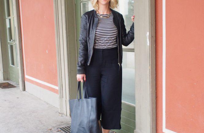 Outfit Culotte Streifenshirt Valentinstag