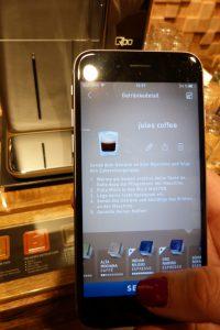 Qbo Kaffeemaschine App personalisierbar